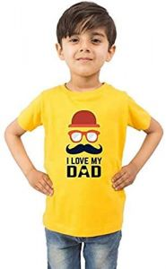 Trendy I-Love-My-Dad Printed Half Sleeves T-shirts For kids