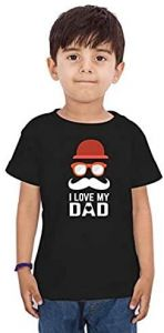 I-Love-My-Dad Printed Half Sleeves T-shirts For kids