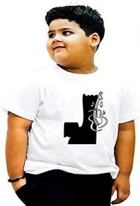 Trendy Round Neck J-Alphabet Printed Half Sleeves T-shirts For Kids