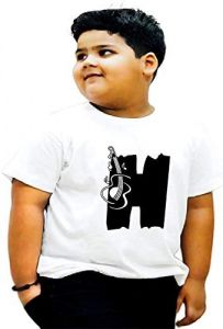 Casual & Trendy Kids H-Alphabet Printed Design T-shirts For kids (White)