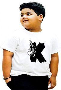 Trendy & Regular Fit K-Alphabet Printed Design T-Shirts For kids