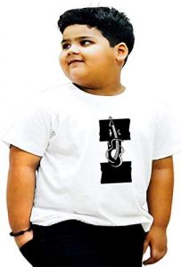 Trendy Round Neck Kids I-Alphabet Printed T-Shirts Perfect For Summers