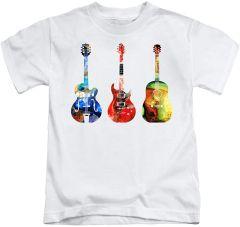 Trendy Gitar Printed Regular Fit & Round Neck T-shirts For Kids