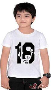 Casual & Stylish Regular Wear Virat-18 Printed Half Sleeves T-Shirts For Kids