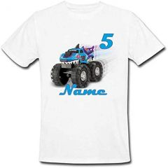 Stylish & Casual, Regular Fit Tractor Printed Round Neck T-shirts For Kids