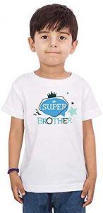 Trendy & Design Super-Brother Regular Fit, Half Sleeves Printed T-Shirts For Kids