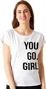 Trendy You-Go-Girl Printed Regular Fit, Half Sleeves T-Shirts For Kids