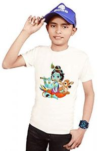 Little-Krishna Printed Round Neck T-Shirts For Kids