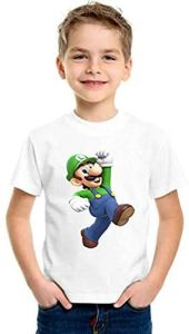 Casual & Stylish Kids Mario Printed Round Neck T-shirts For Parties & Gifting