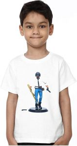 Round Neck PUBG-2 Printed Half Sleeves T-shirts For Kids