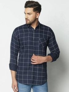 Stylish Checked Cotton Slim Fit Full Sleeves Casual Shirt For Men's (Pack of 1)