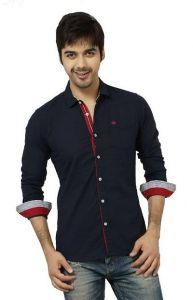 Men's Stylish and Fashionable Slim Fit Cotton Long Sleeves Casual Shirt (Pack of 1)