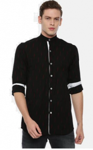 Slim Fit Stylish and fashionable Printed Cotton Long Sleeves Shirt For Men's (Pack of 1)