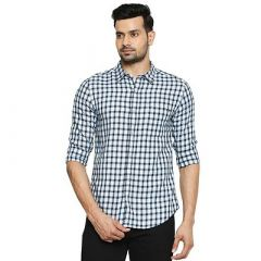 Stunning Stylish Cotton Checked Printed Full Sleeves Casual Shirt For Men's (Pack of 1)