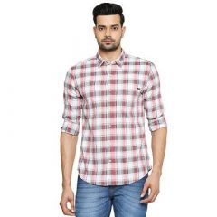 Stunning Stylish Cotton Checked Printed Short Sleeves Casual Shirt For Men's (Pack of 1)