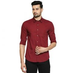 Stylish and Stunning Solid Printed Cotton Full Sleeves Casual Shirt For Men's (Pack of 1)