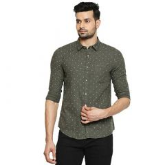 Stylish and Stunning Solid Printed Cotton Full Sleeves Casual Shirt For Men's (Dark Green) (Pack of 1)
