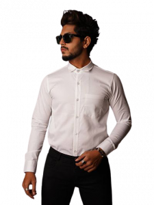 Stylish and Stunning Solid Cotton Full Sleeves Casual and Office Wear Shirt For Men's (White) (Pack of 1)