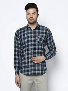 Stylish and Fashionable Checked Printed Cotton Full Sleeves Casual Shirt For Men's (Multi-Color)