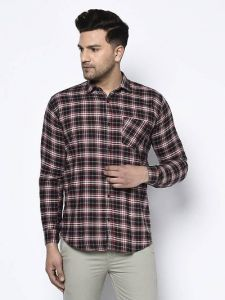 Stylish and Fashionable Checked Printed Cotton Full Sleeves Casual Shirt For Men's (Multi-Color) (Pack of 1)