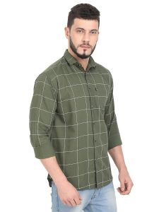 AIDAN PAUL Printed Slim Fit Casual Shirts & Semi Formals For Men's (Green) (Pack of 1)