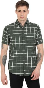 AIDAN PAUL Regular Fit Checkered Printed Casual Half Sleeve Shirt For Men's (Pack of 1)