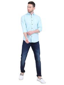 Aidhan Paul Comfortable, Fashionable & Regular Fit, Plain Slim Shirt For Men's