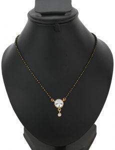 Stylish American Diamond Simple Mangalsutra