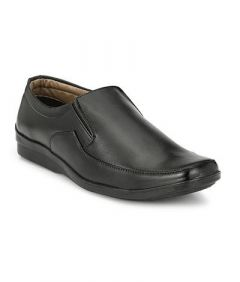Comfortable and Stylish Solid Synthetic Leather Slip-on Formal Shoes For Men (Black) (Pack of 1)