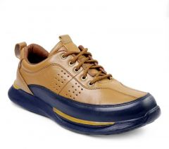 Ramoz Comfortable and Durable Genuine Leather Casual Shoes For Men's (Tan)