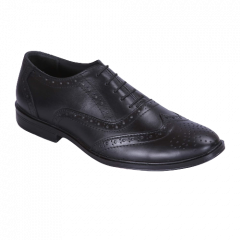 Ramoz Comfortable and Durable Genuine Leather Formal Shoes For Men's (Black)