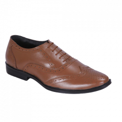 Comfortable and Durable Genuine Leather Formal Shoes For Men (Tan)