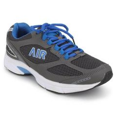 Men's Comfortable and Stylish Self Design Sports Shoes For Running and Gym (Grey)