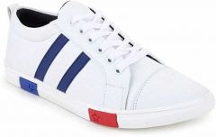 Ramoz Comfortable and Durable Synthetic Leather Casino Casual Shoes For Men's (White)