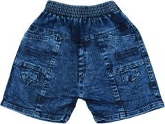 SHAURYA INNOVATION Party Wear Self Design Denim Short For Boy's (Blue) (Pack of 1)
