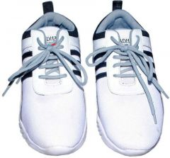 BAGOS Comfortable and Stylish Walking Sports Shoes For Men's (White & Black) (Pack of 1)