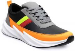 Ramoz Comfortable and Durable Synthetic & Textile Mixed Sports Shoes For Men's (Multi-Color)