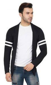 Cotton Stripe Printed Full Sleeves Open Long Sleeve Shrug For Men's (Pack of 1)