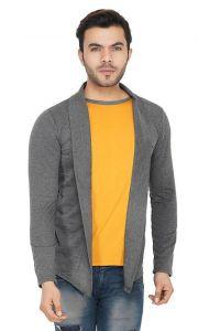 Slim Fit Solid Cotton Full Sleeves Open Long Sleeve Shrug For Men's (Pack of 1)