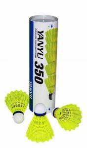 Yanyu 350 Badminton Shuttlecocks Plastic|Nylon Material Full Set