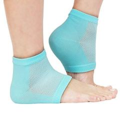 Silicone Gel Heel Socks For Dry Hard Cracked Swelling & Pain Relief Foot Care Ankle Protection (Multi-Colour) (1Pair)