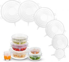 Kwick box Silicone Lid Set Kitchen Essential for Air Tight Thing (Pack of 6)