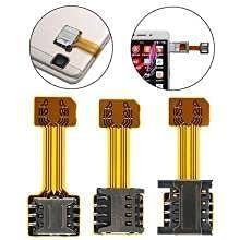 Latest technology Hybrid Sim Slot Adapter to Run 2 Nano-Sim and 1 Micro SD Card(Gold)