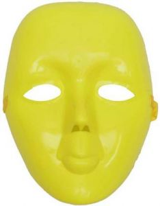 PTCMART Simple Face Mask For Party Mask (Yellow | Pack of 1)