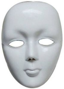 PTCMART Simple White Mask For Party Costume, Party Mask  (White, Pack of 1)