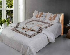 Fabric Empire Cotton Set with 1 Bedsheet, 2 Pillow Covers Size 90x108 inch (Pack of 3)