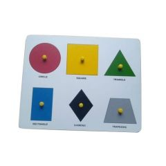 Six Shape Board for Learning Kids (Pack Of 1)