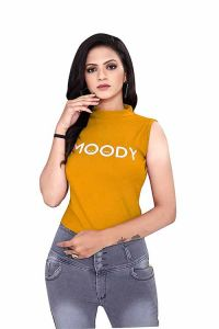 Women Sleeveless Top Hosiery Fabric Regular Fit Solid Top for Office Wear, Casual Wear, Top (Pack of 1)