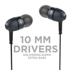 BassHeads 225 in-Ear Super Extra Bass Wired Earphone (Black) (Pack Of 1)