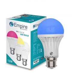 12W B22 Round Decorative Color LED Bulb Low Energy Consumption (Pack Of 1)